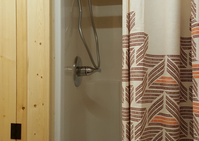 Tiny house full-size shower