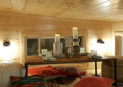 Tiny House loft for sleeping, seating, or storage
